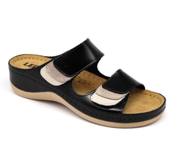 8259f6ced769 Leon 904 Dámska zdravotná obuv s prackou - Čierna