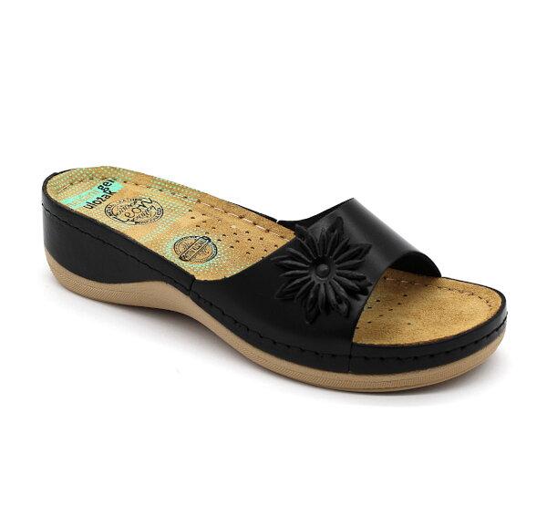 d1fe42bcc825 Leon 915 Dámska zdravotná obuv s prackou - Čierna