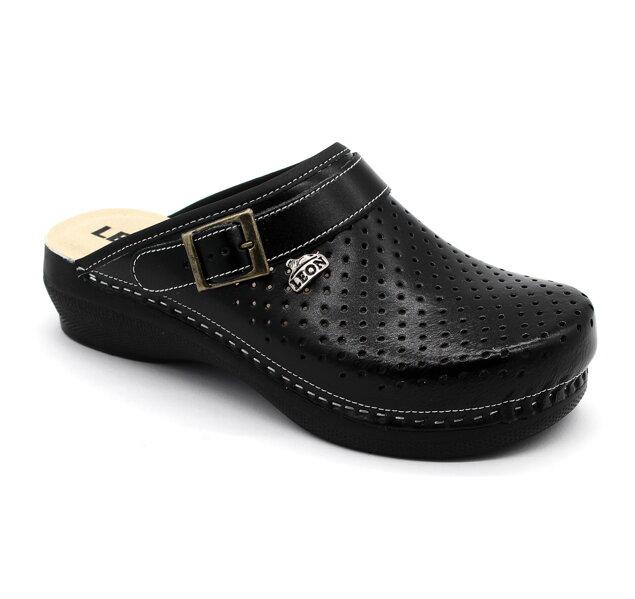 bddd606ebd29 Leon PU101 Dámska zdravotná obuv uzavretá - Čierna