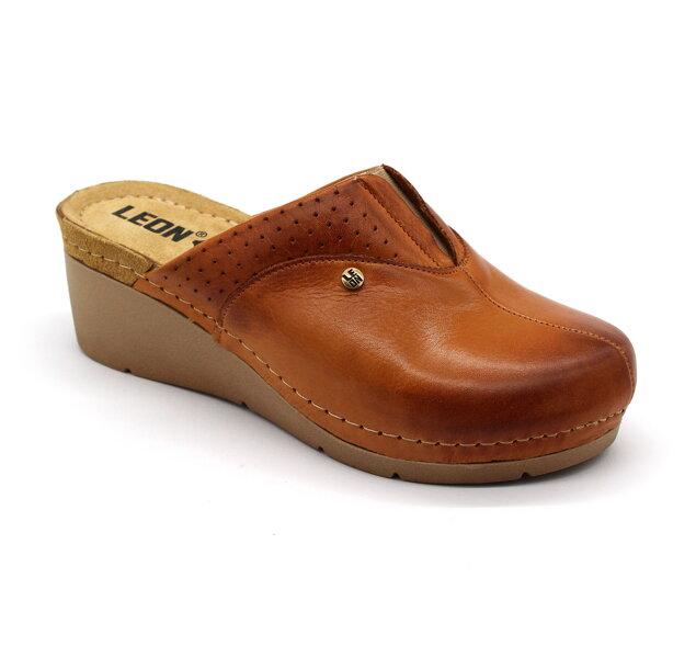 f2fc59f9e0 Leon 1002 Dámska zdravotná obuv - Klinový opätok - Hnedá