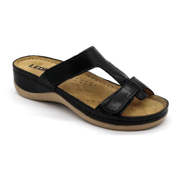 26fb7c6ea132 Leon 914 Dámska zdravotná obuv s prackou - Čierna