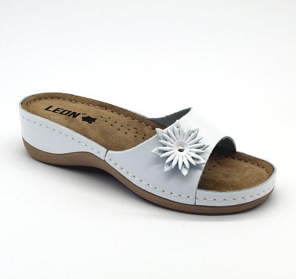 8a8c27f7a1ed Leon 915 Dámska zdravotná obuv s prackou - Biela