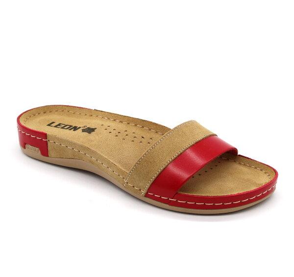 1e301265c58d Leon 990 Dámska zdravotná obuv s prackou - Červená