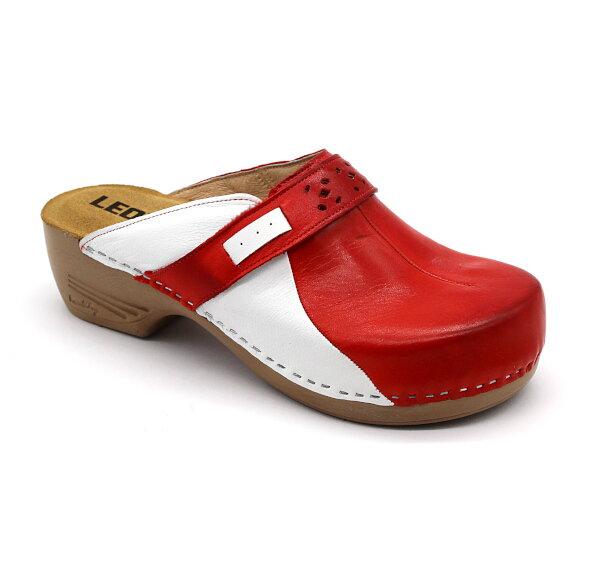 325b1375dc53 Leon PU154 Dámska zdravotná obuv uzavretá - Červená