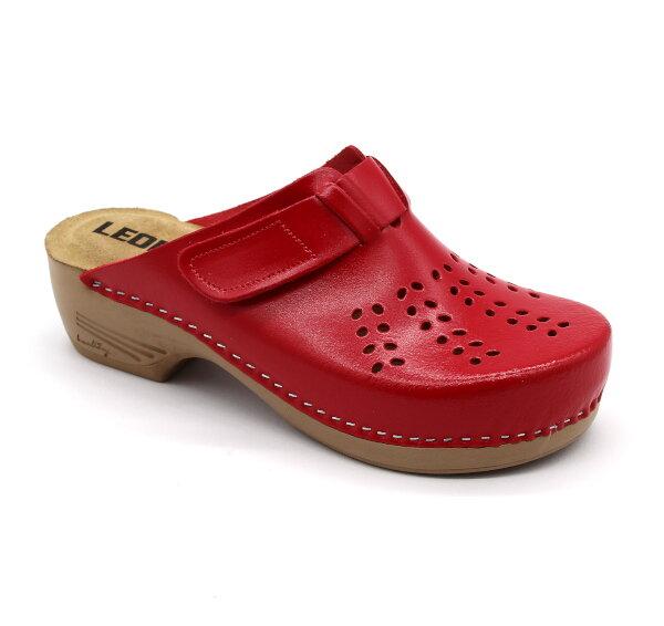 db4507019152 Leon PU161 Dámska zdravotná obuv uzavretá - Červená