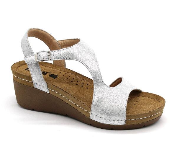 7d8e2a903d8b Leon 1050 Zdravotné sandále - Strieborná