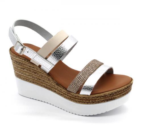 c9e0e16df8e9 1301 Zdravotné sandále - Strieborná